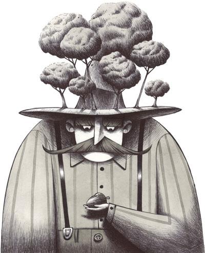 Uomo che piantava gli alberi home